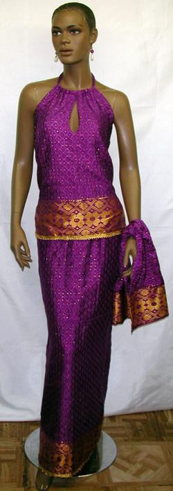 Elegant Purple and Gold dress