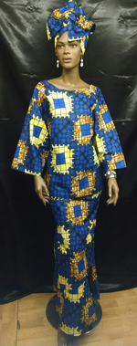 Afican-Blue-Yellow-Skirt-Se