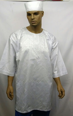 Africa-White-Silver-Embroid