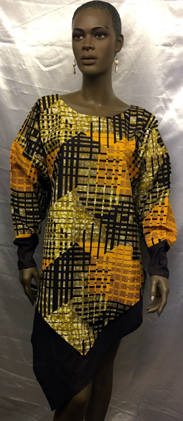 African--Brown-Gold-V-Top