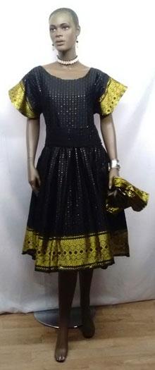 6028dbbbaa257 Elegant African Dress-African Women's Black & Gold Dress. `