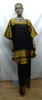African-Black-Gold-Pants-Se