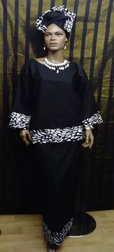 African-Black-White-3pc-set