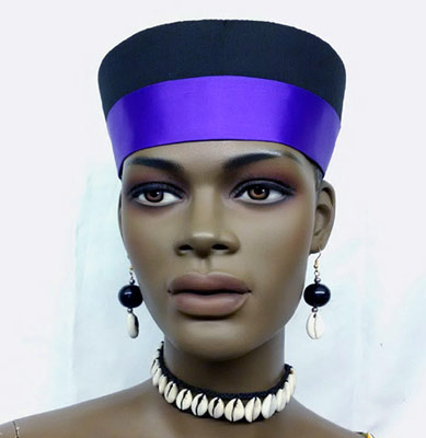 African-Black-and-Blue-Hat