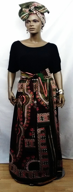 African-Brown-Dashiki-Skirt