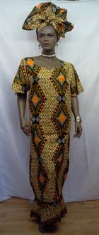 African-Brown-Orange-Skirt-