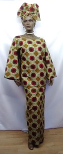 African-Burgundy-Cream-3pc-