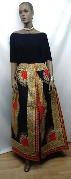 African-Dashiki-Print-Skirt
