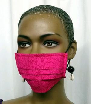 African-Fuschia-Face-Mask