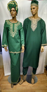 African-Green-Embroiedered-