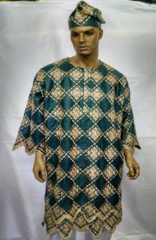 African Dashiki shirt w/Pants Set
