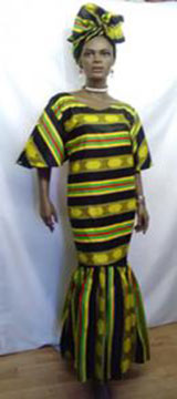 African-Kente-Peplum-Dress