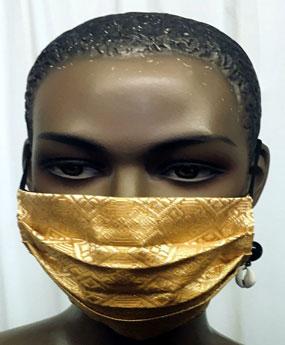 African-Light-Gold-Face-Mas