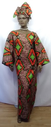 African-Orange-Green-Skirt-