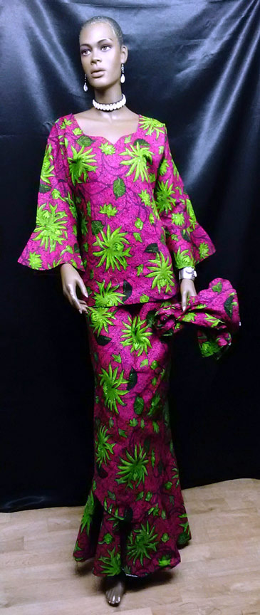 African-Pink-and-Green-Skir