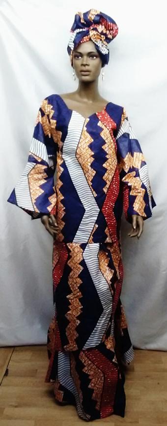 African-Purple-Layered-Skir