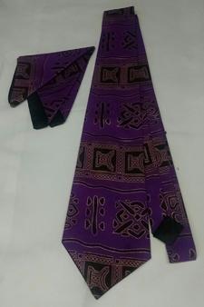 African-Purple-Print-Tie-Se