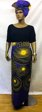 African-Purple-yellow-Skirt