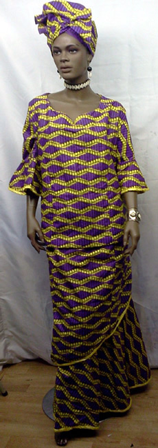 African-Purple-yellow-print