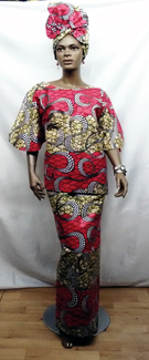 African-Red-Bell-Sleeve-Ski