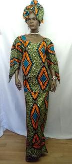 African-Teal-Print-Skirt-Se