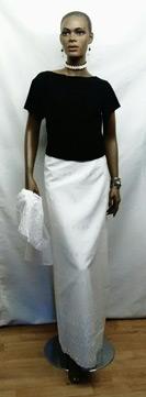 African-White-Long-Skirt