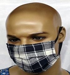 Custom-Plaid-Print-Face-Mas