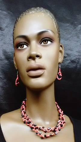 Nigerian-Pink-Black-Beaded-
