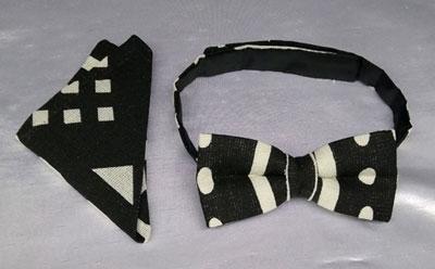 african kente b/w bow tie