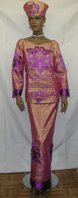 african dress purple and gold dress