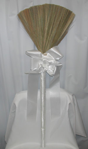 african traditional bridal jumping broom plain broom with white