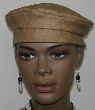 a4bb0724051e0 African Hat- Women Zumba Leather Kufi Hat. `