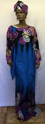 blue-kaftan-print-skirt-set
