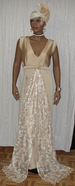 African Wedding Gown Egyptian Bridal Gown