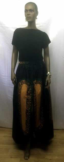 green-gold-flare-skirt