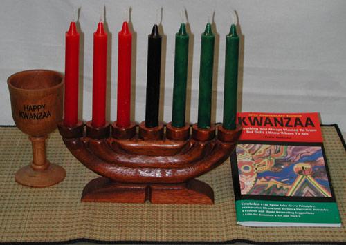 kwanzaa kinara complete set w seven candles