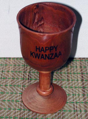 Kwanzaa Hand Carved Unity Cup