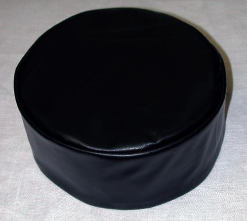 Black Leather Kufi Hats