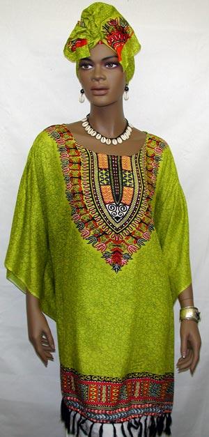 african dress elegance short caftan wheadwrap