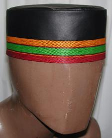 Leather Kufi Hat