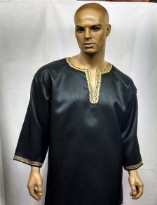 Africa Dashiki Black and Gold Shirt