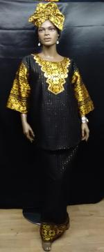 African-Black-Gold-2pc-set