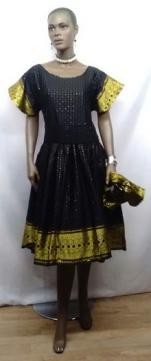 African-Black-Gold-Dress