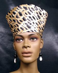African-Black-Gold-Velvet-O