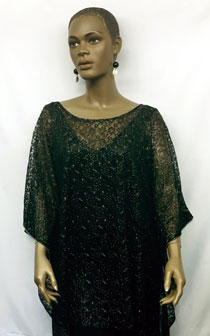 African-Black-Sheer-Lace-Sh