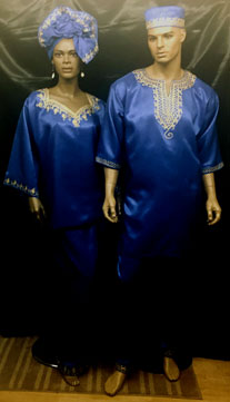 African-Blue-Couple-Set