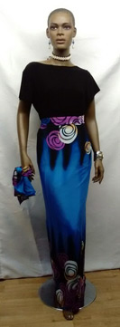 African-Blue-Long-Skirt