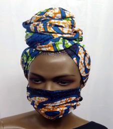 African-Blue-Print-Face-Mas