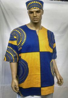 African-Blue-Yellow-Print-D