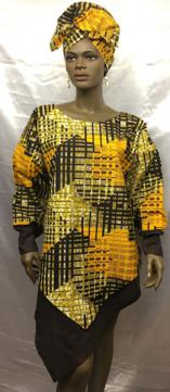 African-Brown-Gold-V-Top-2